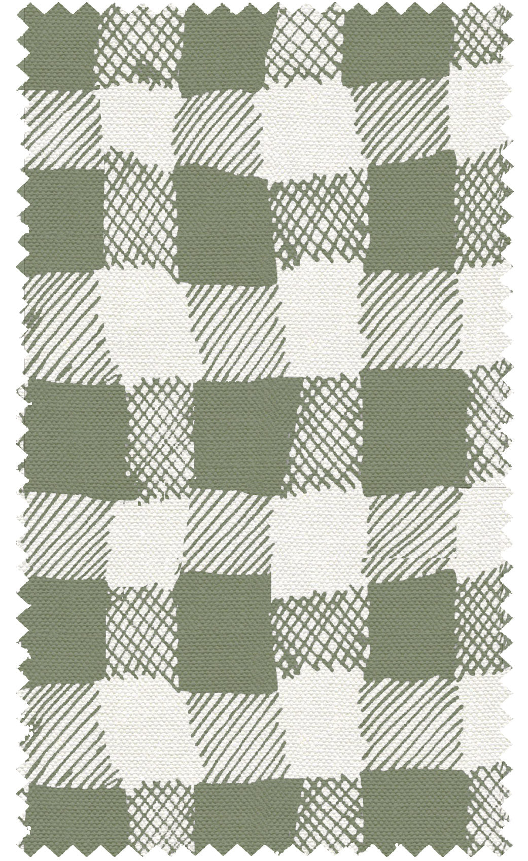 Gingham Co-Ordinate Linen Fabric Olive