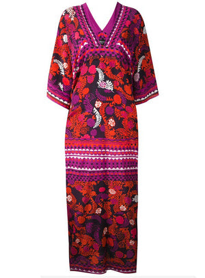 Pomegranate Noir Kaftan Dress - Limited Edition