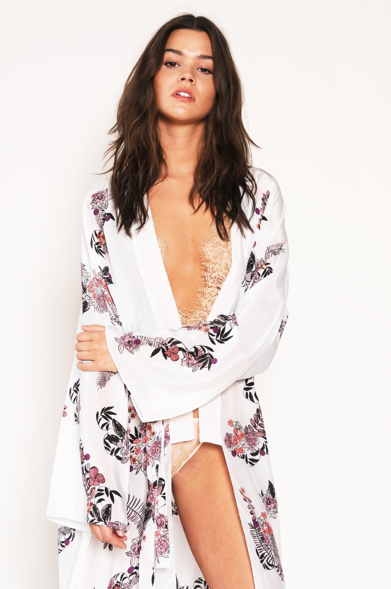 silk robe, Casati bridal, kaftan Holland Street loungewear