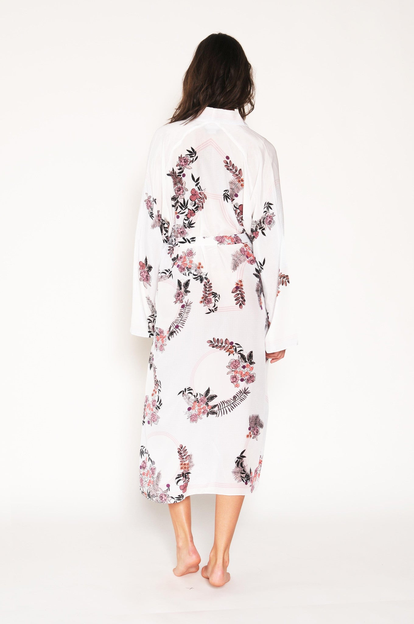 Casati bridal silk robe, kaftan Holland Street loungewear