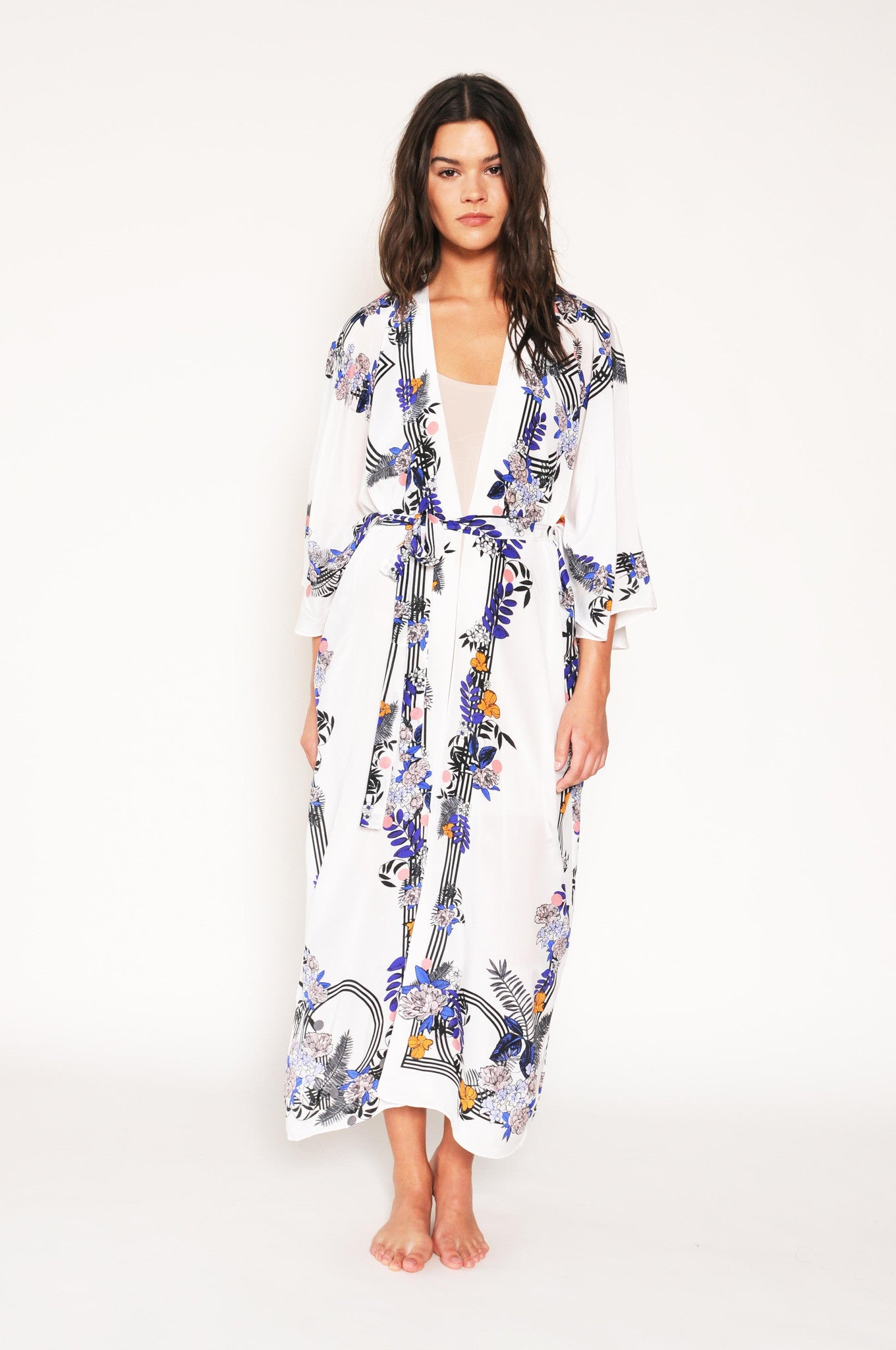 silk robe Fortuny, holland street loungewear