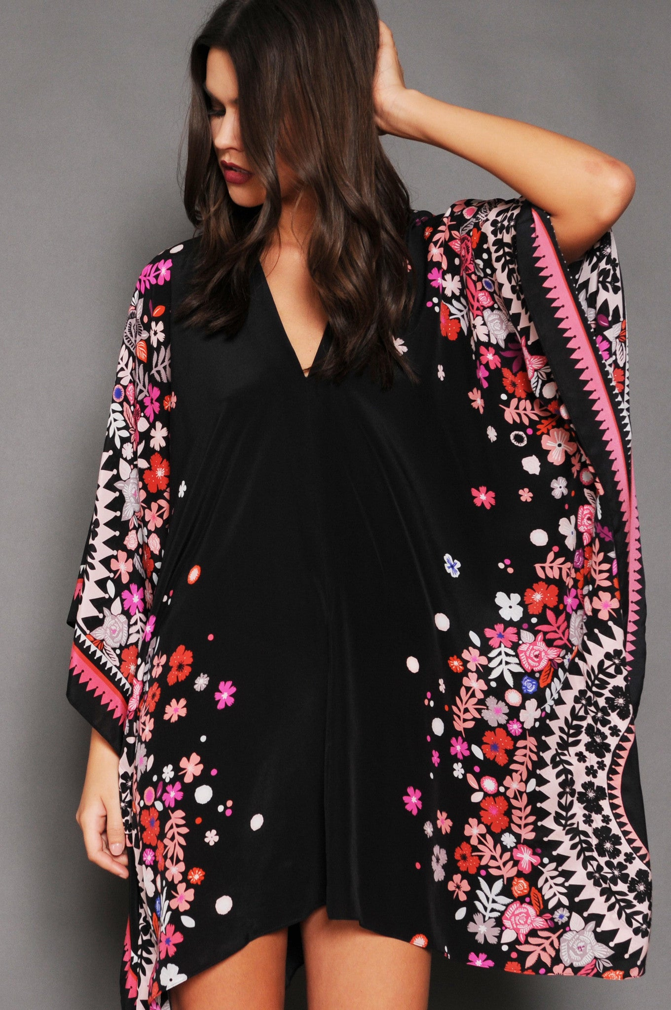 Holland Street's Silk Kaftan Sakura Bloom beachwear