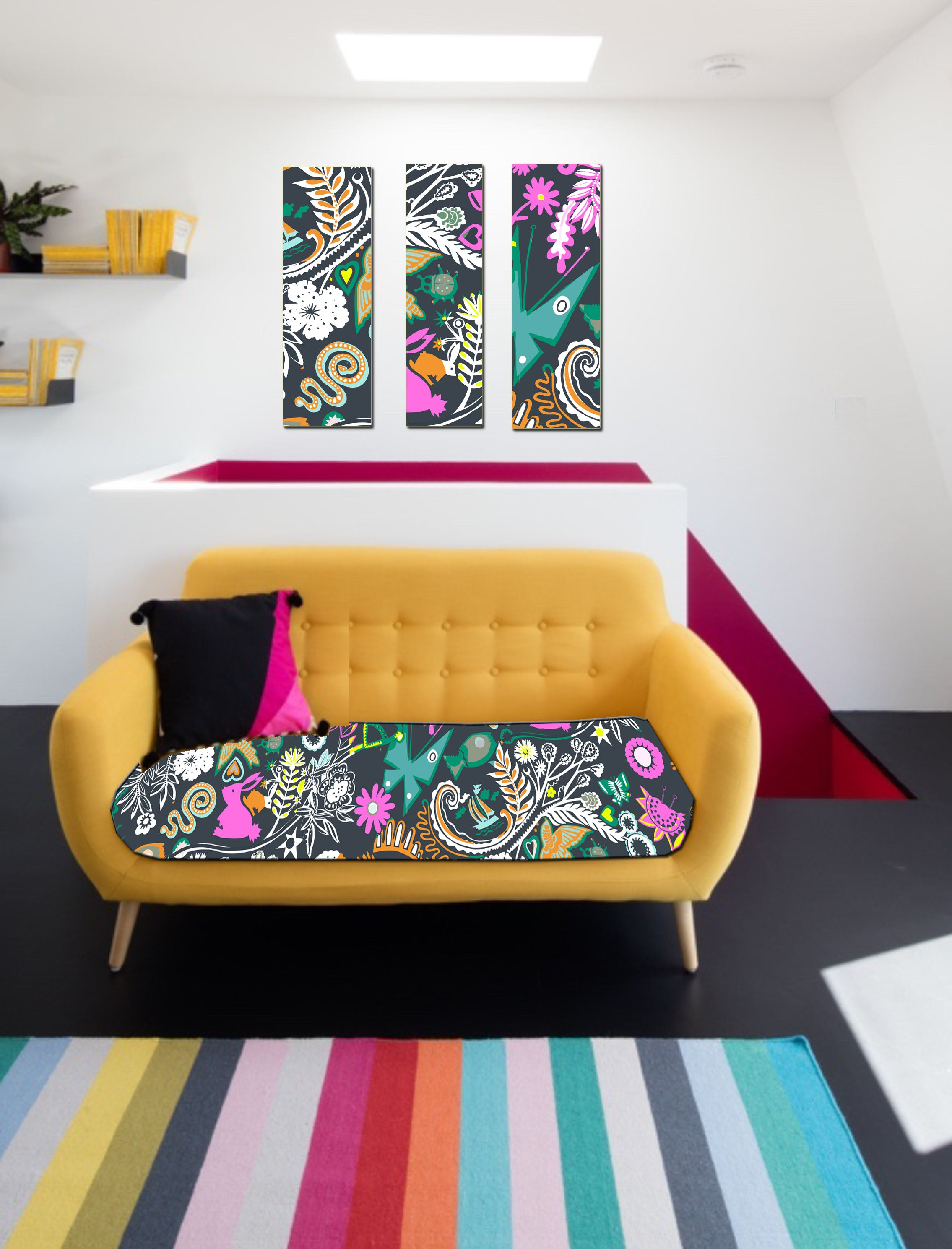 10 Holland Street Park Life Carnival print sofa London Clapham Luxury Interiors Textile designer