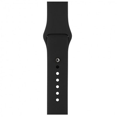 Silicone Wristband for Apple Watch 38mm - Black