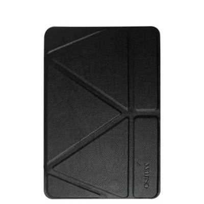 Onjess iPad 9.7 - inch PU Leather+Silicone  Case - Black