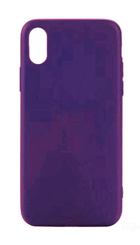 iPhone X Silicone Case - Purple