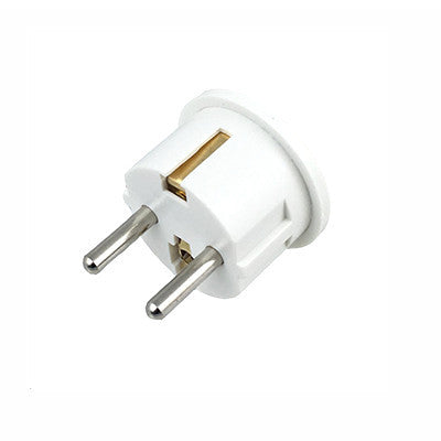 UK to EU Power Travel Plug Adapter Converter 10A - 250V - 2P+ - White