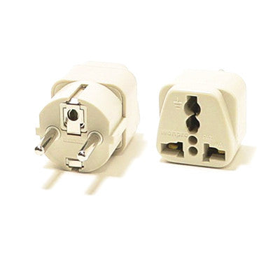UK to EU Power Travel Plug Adapter Converter 10V / 16V/ 250V - Gray