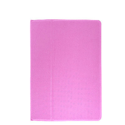 iPad Air 2 PU Leather+Polycarbonate 360 Degree Rotating Stand Case - Pink