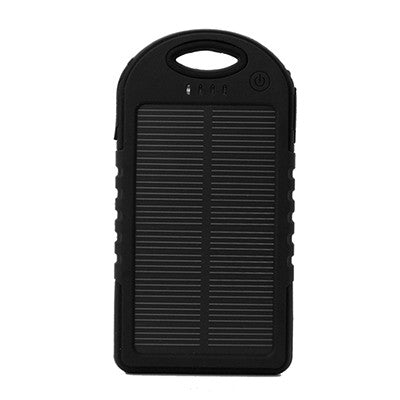 Portable External Solar Charger Power Bank + iPhone 4/4s connector - Black