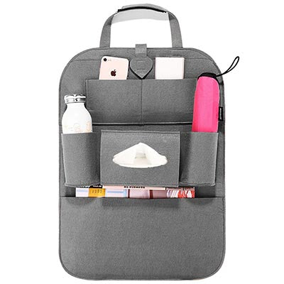 Multifunctional Car Seat Storage Bag - Gray