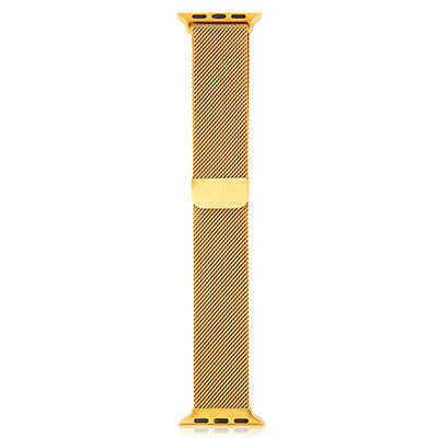 Milanese Wristband for Apple Watch 42mm - Gloss Gold