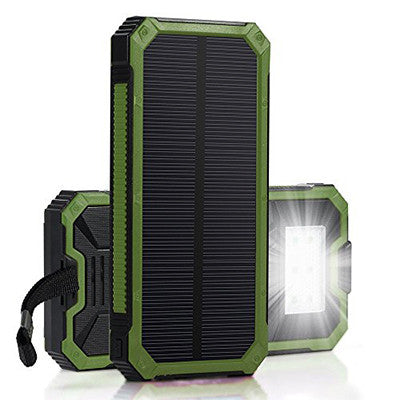 Portable External Solar Charger Power Bank Long Lasting and Hight Capacity - Green