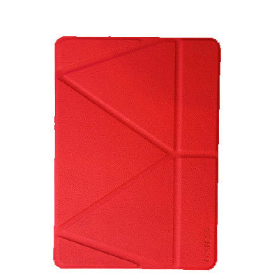 Onjess iPad Air PU Leather+Silicone 360 Degree Rotating Stand Case - Red