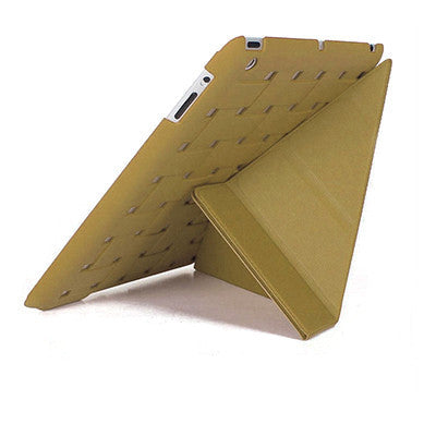 Smart Zone iPad 1/2/3/4 Pu Leather+Polycarbonate Cover - Khaki