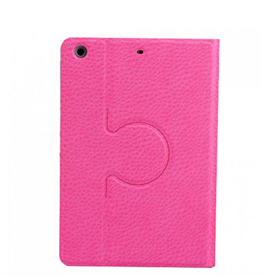 iPad mini 4 PU Leather+Polycarbonate 360 Degree Rotating Stand Case - Pink