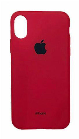 iPhone X Rubber Case - Red