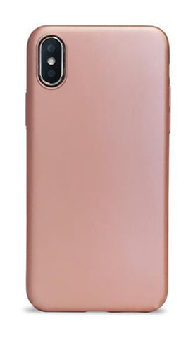 iPhone X Silicone Case - Rose Gold