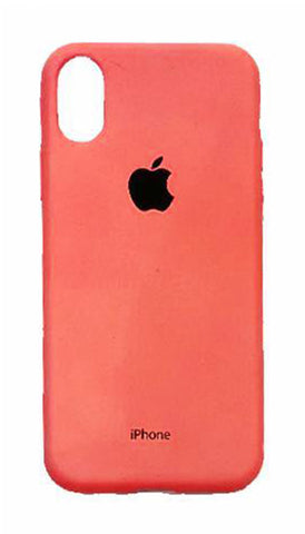 iPhone X Rubber Case - Neon Coral