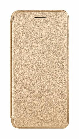 Flip wallet iPhone 8 Plus Leather + Silicone Case - Gold