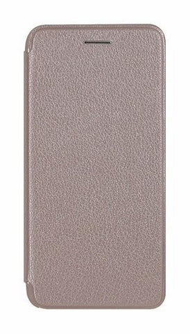 Flip wallet iPhone 8 Plus Leather + Silicone Case - Silver