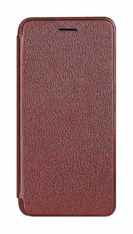 Flip wallet iPhone 8 Plus Leather + Silicone Case - Cherry