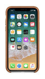 Apple iPhone X Leather Case - Brown (Produkt Zyrtar)