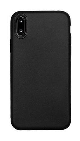 iPhone X Rubber Case - Black