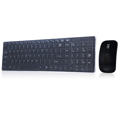 Wireless Keyboard+Mouse with Numeric Keypad - Black