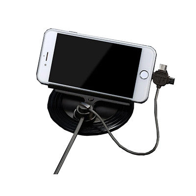 Remax Letto Car Mount Holder with 3 in 1 Magnetic Charging Cable - Black