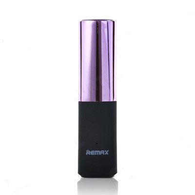 Remax Lipstick Portable External Power Bank Charger 2400mAh - Purple