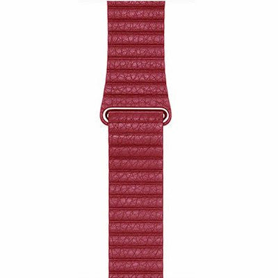 Leather Wristband for Apple Watch 42mm - Red