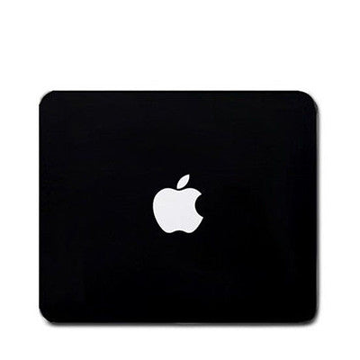 Mouse Pad with Apple Logo - Black