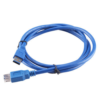 USB 2.0 Male to Female Extension Cable 1.5m - Blue