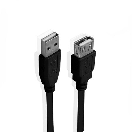 USB Extension Cable - A-Male to A-Female 1m - Black