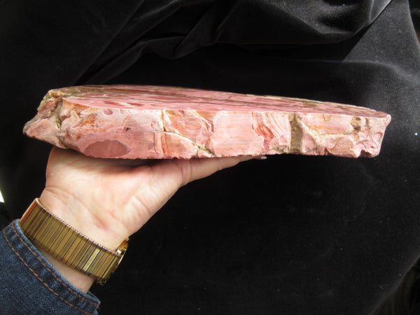 Polished Brecciated Pink Opal slab POP130