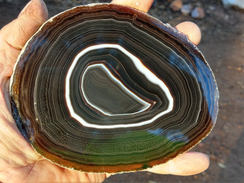 Polished Brazilian Agate . BA110.