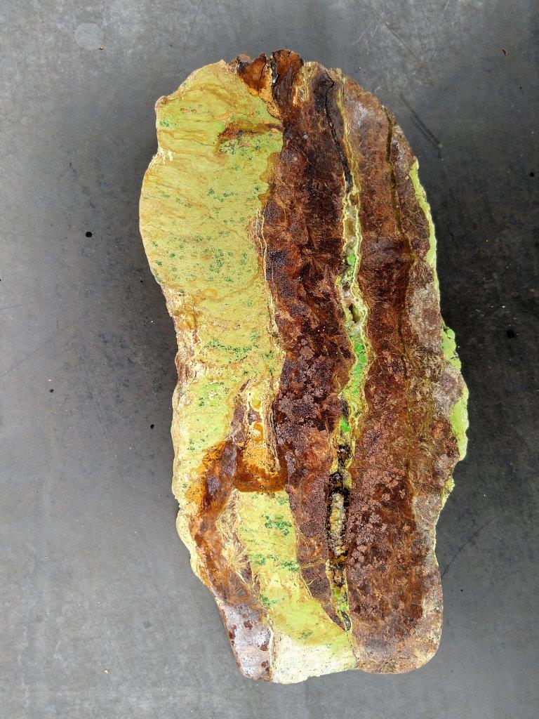 Gaspeite Polished Slab.  GT209