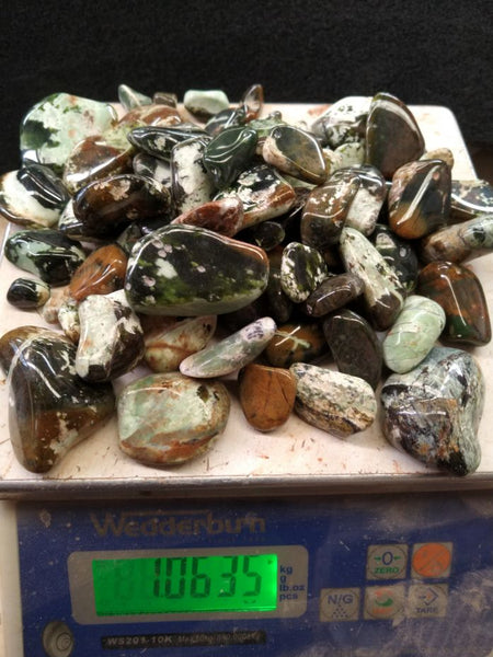 1 kg. Tumble Polished Chrome Chalcedony CCT103