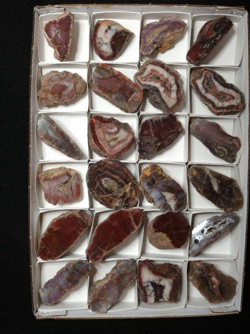 Box of Polished Pilbara Agates PA251