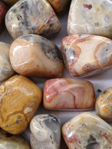 2 kg. Tumble polished Crazy Lace Agate CLT103