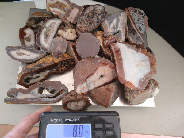 Bulk lot of polished Pilbara Agates PA259  Bargain clearance !
