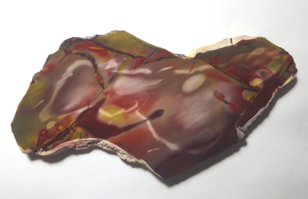 Polished Mookaite slab.   MK244.