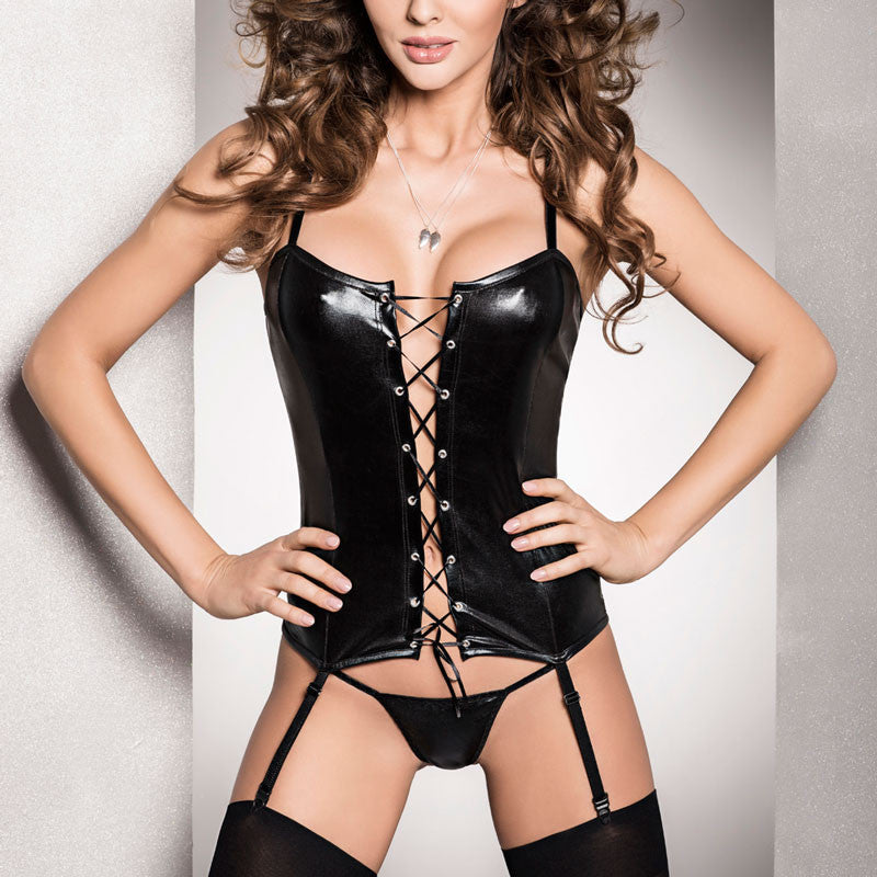 Passion Bes Corset Black.