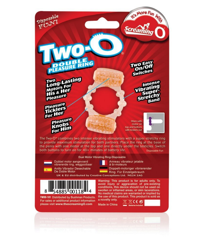 Screaming O Two-O Vibrating Cock Ring