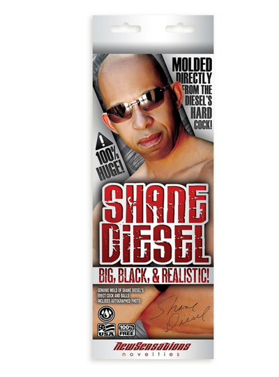 Shane Diesel Big Black and Realistic Dildo.