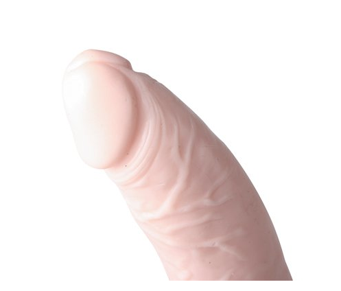 Basix Slim 7 Inch With Suction Cup Flesh Dildo.