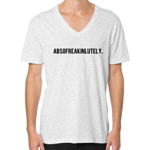 Absofreakinlutely V-Neck Ash grey BudapestCanoe.Com