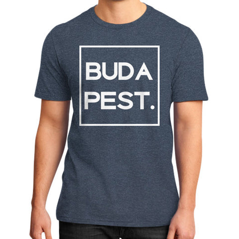 Budapest Dark District T-Shirt Heather navy BudapestCanoe.Com