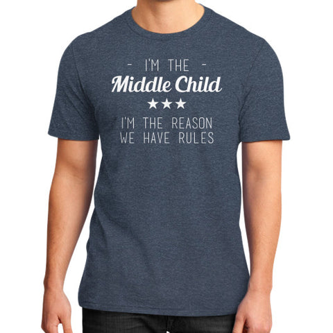 Middle Child District T-Shirt Heather navy BudapestCanoe.Com